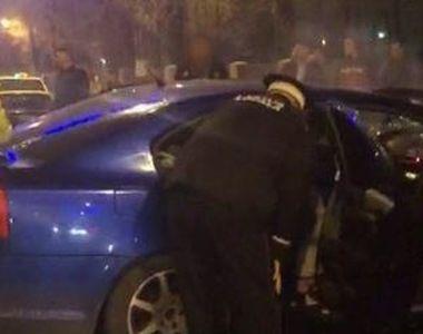 VIDEO | Dezastru la Târgu Jiu după o cursă ilegală cu mașini. Tinerii au fost scoși cu...