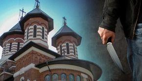 VIDEO | Scene terifiante în fața bisericii. Un actor a încercat să își ucidă soția