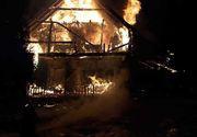 Cabană turistică din Munţii Şureanu, distrusă de un incendiu; aproximativ zece persoane au reuşit să iasă din construcţia cuprinsă de flăcări