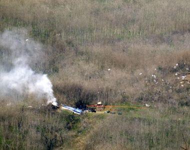 În spațiul public au apărut imagini cu momentul în care un elicopter se prăbușește....