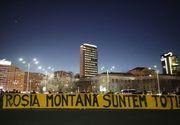 Protest în Piaţa Victoriei - Manifestanţii cer Guvernului includerea Roşiei Montane în patrimoniul UNESCO - FOTO, VIDEO