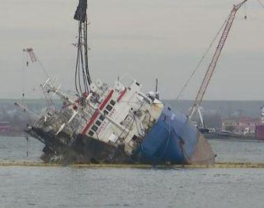VIDEO |  Operațiunea de scoatere a navei cu 14.000 de oi la bord din portul Midia a eșuat