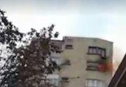 Incendiu devastator în Capitală: o femeie de 85 de ani a murit și alte 9 persoane au fost evacuate din cauza fumului
