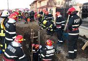 Ilfov: Un muncitor care lucra la organizarea unui şantier a murit după ce a fost prins sub un mal de pământ