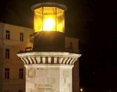 VIDEO | Farul genovez din Constanța strălucește din nou