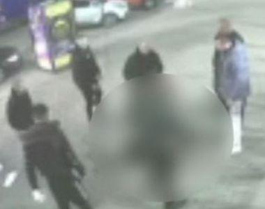 VIDEO | Tânăr bătut de bodyguarzi în centrul Aradului. Totul a fost filmat!