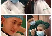 Imagini cu un puternic impact emoțional cu femeile medic din China. Sunt rase în cap înainte de a fi trimise în zonele afectate de coronavirus