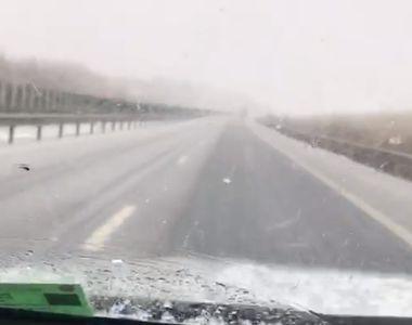 Sibiu: Trafic îngreunat pe autostradă, în zona municipiului Sibiu, din cauza ploii...