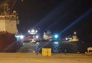 Nava scufundată în Portul Midia la sfârşitul lunii noiembrie a fost adusă la ţărm