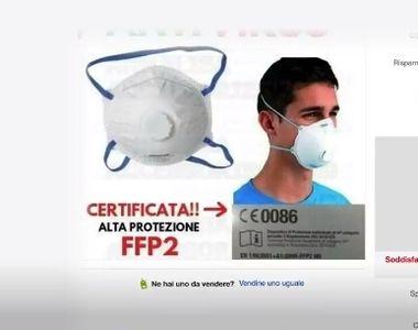 Măști chirurgicale la preț de aur în Italia, anchetele autorităților sunt în curs