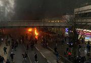 Incidente grave la Paris în timpul unui concert. Autoritățile au intervenit pentru a stinge un incendiu, iar o gară a fost închisă
