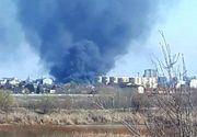 BREAKING NEWS! Incendiu puternic în Capitală