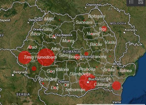 Hartă Coronavirus Romania Cele Mai Afectate Județe Stirile Kanal