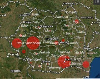 Hartă coronavirus România: Cele mai afectate județe de pandemia de COVID-19