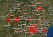 Cazurile de coronavirus din România pe județe. Harta îmbolnăvirilor
