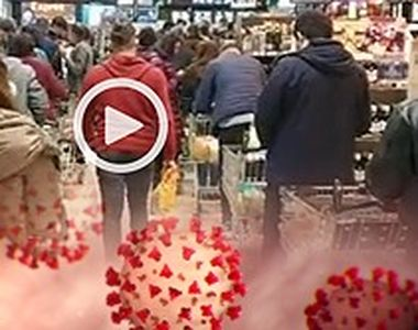 VIDEO | Goana după provizii i-a ținut la coadă