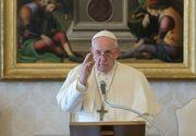 """Mesajul Papei Francisc pentru credincioși: """"Să ne unim vocile"""""""