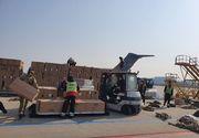 """Un transport aerian cu 45 de tone de echipamente medicale din Coreea de Sud a sosit pe aeroportul """"Henri Coandă"""""""