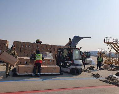 Un transport aerian cu 45 de tone de echipamente medicale din Coreea de Sud a sosit pe...