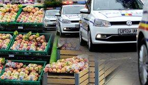 VIDEO| Cumpărături la coadă, cu Poliția