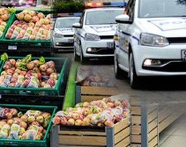 VIDEO  Cumpărături la coadă, cu Poliția