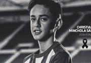 Atletico Madrid anunţă că unul dintre juniorii săi, Christian Minchola, a murit la doar 14 ani