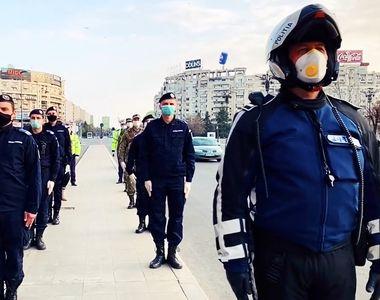 Echipajele de poliție din țară vor difuza Imnul României în megafoane