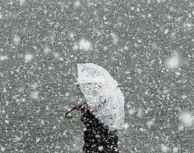 Val de aer polar peste România: Cod galben de ninsori și viscol!