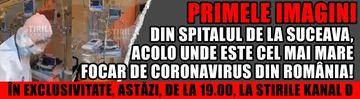 Primele imagini din Spitalul de la Suceava, acolo unde este cel mai mare focar de Coronavirus din România! În exclusivitate, astăzi, de la 19.00, la Stirile Kanal D