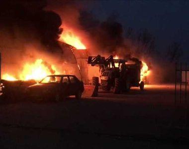 Ialomiţa: Un bărbat a murit într-un incendiu care a cuprins o fermă