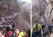 Aglomerație într-o zonă turistică din China după ridicarea restricțiilor