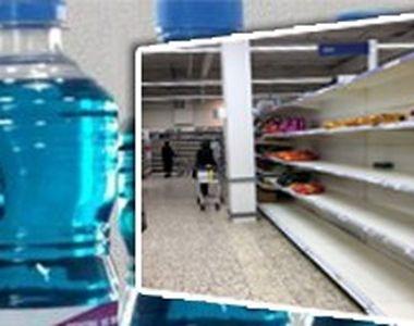 VIDEO| Spirtul a dispărut fără urmă de pe rafturile supermarketurilor din Capitală