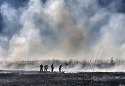 CJ Ilfov: Incendiul de la Periş continuă pe aproximativ 5.000 de metri pătraţi