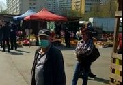 Aglomeraţie în Piaţa Obor din Bucureşti/ Forţele de ordine au restricţionat accesul - VIDEO