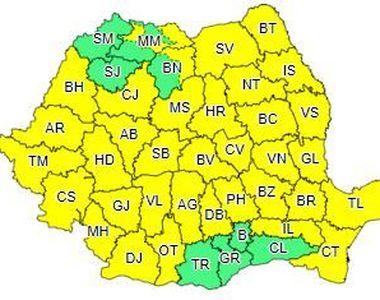 Cod galben de vânt puternic în toată ţara, începând de marţi dimineaţă