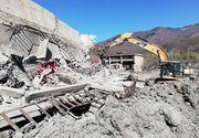 Hunedoara: Doi muncitori, prinşi sub tone de moloz, după prăbuşirea unui turn de extracţie al Exploatării miniere Uricani