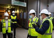 Ludovic Orban şi Lucian Bode au verificat stadiul lucrărilor la Magistrala M5 de metrou, secţiunea Râul Doamnei – Eroilor