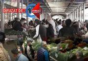 VIDEO| Haos în piețele din România: Sfânta înghesuială nu are restricții!