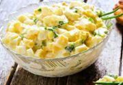 Salată de ouă. Transformă într-un preparat delicios ouăle rămase de la Paște. Rețeta simplă
