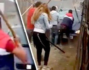 VIDEO| Bătaie cruntă cu bâte și furci, la Săcele