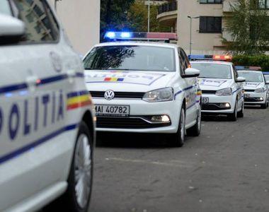 Scandal în județul Sibiu. Scandalagiii au atacat poliţiştii cu pietre şi lopeţi