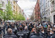 """Ciocniri între poliție și protestatari în Germania. """"Îmi vreau viaţa de dinainte"""""""