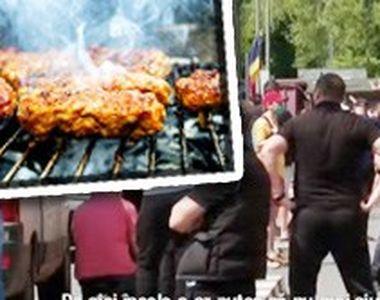 VIDEO| Cozi mari la tarabele cu mici, de 1 Mai muncitoresc