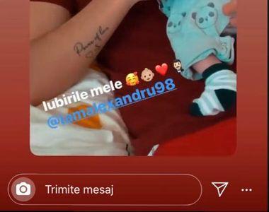 """Alex Zănoagă de la """"Puterea Dragostei"""" și-a fotografiat bebelușul, deși l-a ținut..."""