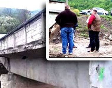 VIDEO| Pod prăbușit în timpul lucrărilor