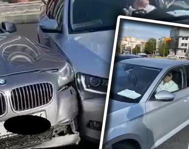 Cum se distruge un BMW, varianta Galați! Filmare violentă și absurdă în care un șofer...