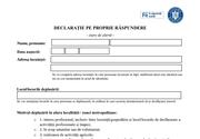 Noul model de declaraţie pe proprie răspundere 15 mai  stare de alertă - FORMULAR ONLINE