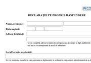 Model declaraţie stare de alertă PDF: Download formular / 15 mai