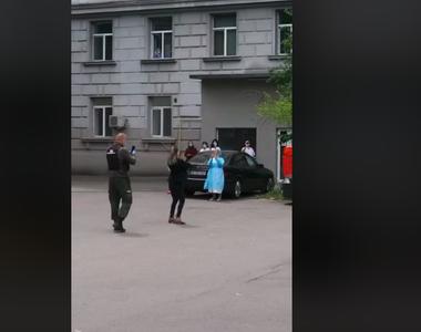 """""""Concert"""" de vioară pentru pacienţii Spitalului Fundeni - VIDEO"""