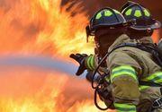 Incendiu puternic în București. S-a intervenit cu cinci autospeciale